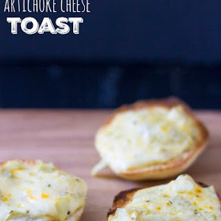 Garlic Artichoke Cheese Toasts - Freaky Friday
