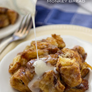 Slow Cooker Cinnamon Roll Monkey Bread.