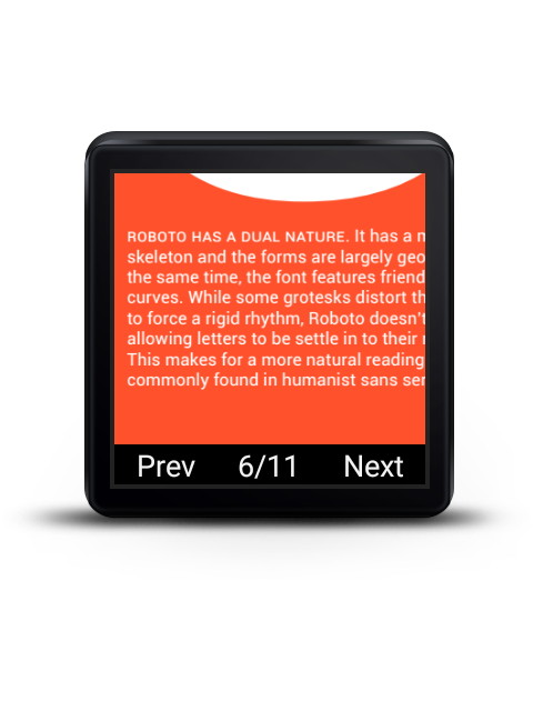 PDF Reader for Android Wear screenshots