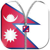 Nepal Flag Zipper Lock Screen