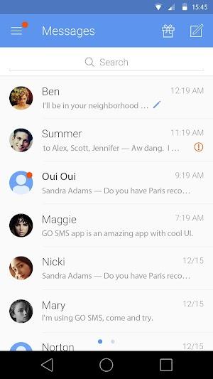 8 GO SMS Pro App screenshot