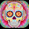 🌈 Skull Mandala  For Aduls 🌈