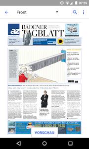 az Badener Tagblatt E-Paper screenshot 1