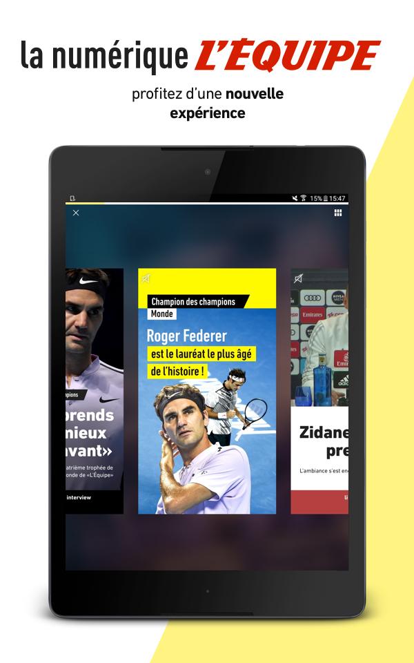 L'Équipe - Sport en direct : foot, tennis, rugby.. Screenshot 10