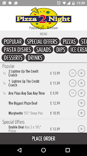 Pizza2Night- screenshot thumbnail