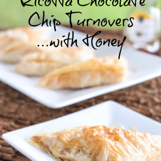 Ricotta Chocolate Chip Turnovers with Honey