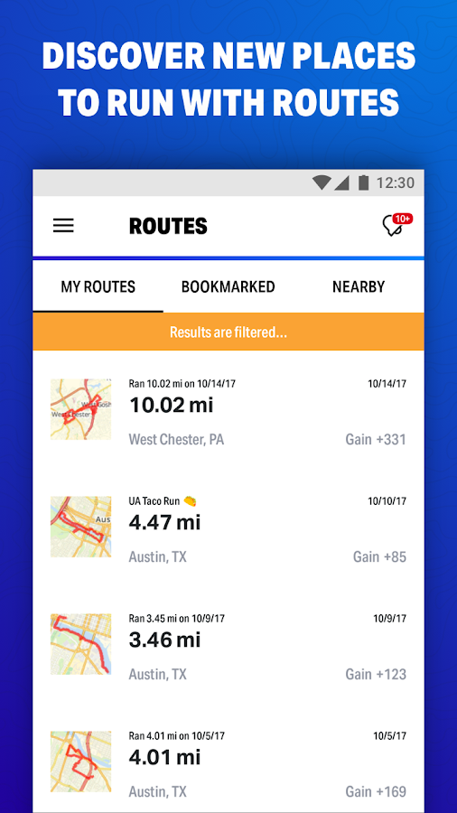 Map My Fitness Workout Trainer- screenshot