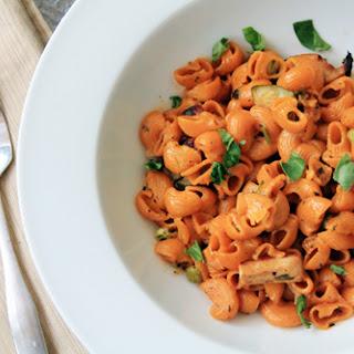 Quick & Easy Fresh Vegetable Pasta with Creamy Tomato Sauce