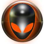 poweramp skin alien orange Icon