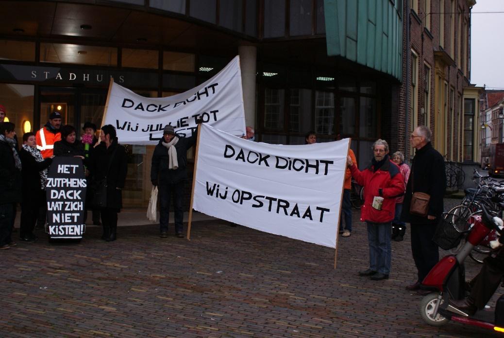 Actie tegen sluiting van het DACK