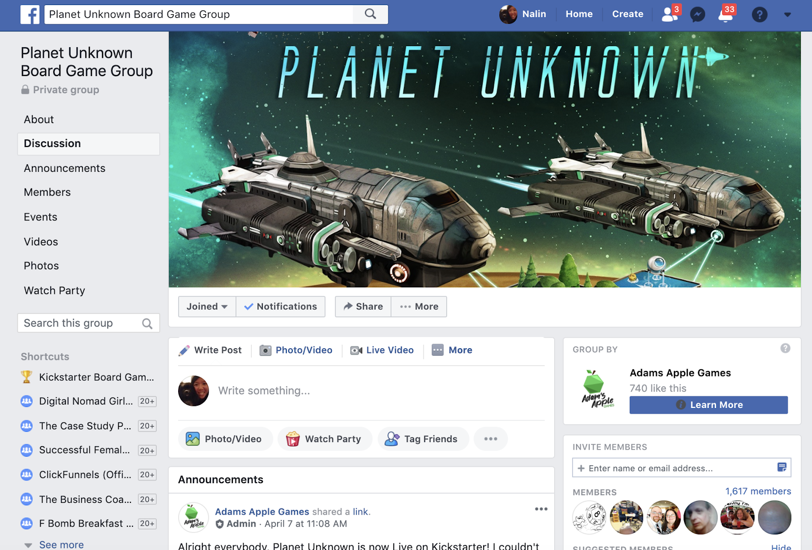 Planet Unknown Group on Facebook