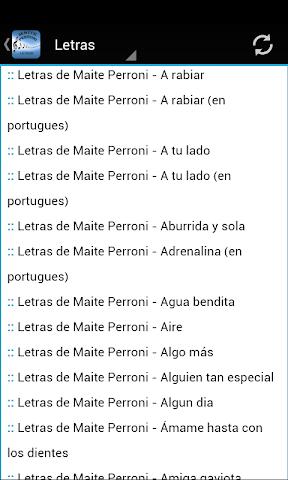android Maite Perroni Letras Screenshot 1
