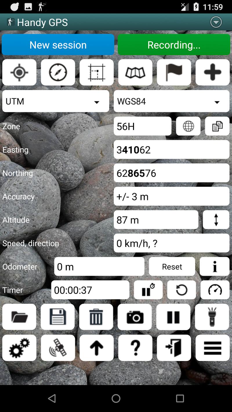 Handy GPS Screenshot