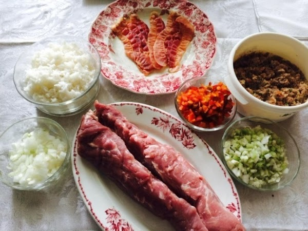 Saute chopped onion, celery and green pepper in a little butter until tender. ...