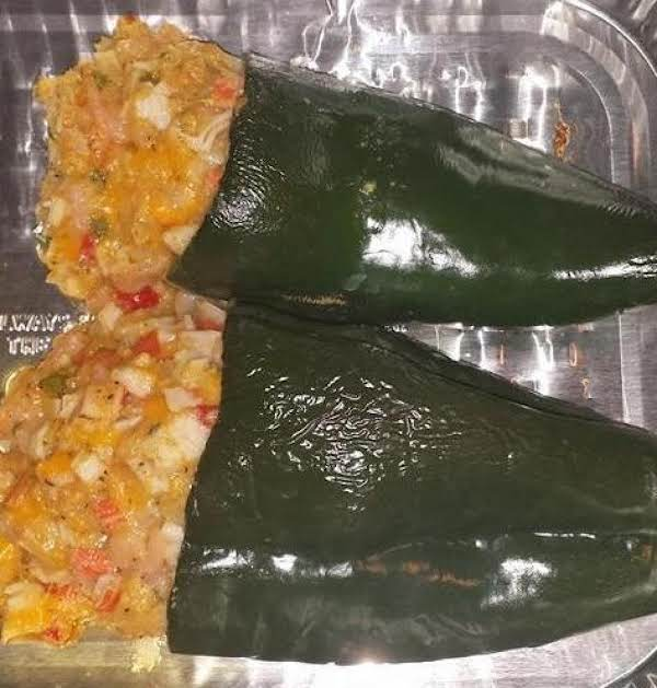 Seafood Stuffed Pablano Peppers