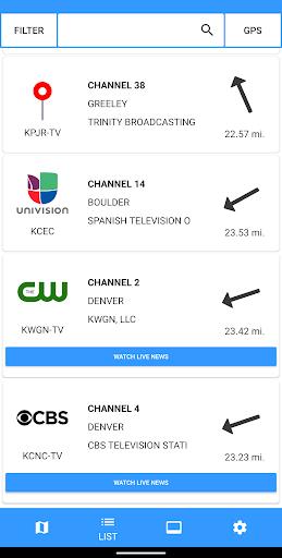 TV Towers - TV Antenna Finder & Free TV Shows 2.8.6 screenshots 4