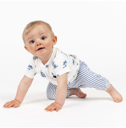 Eddie - Mönstrad kortärmad body till baby