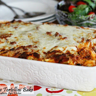Three Cheese Tortellini Bake Recipe