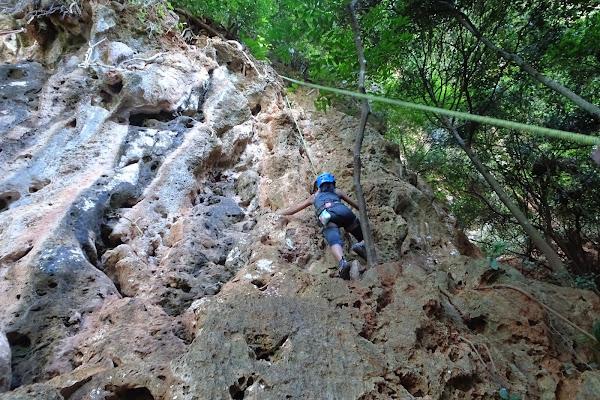 Top-rope climbing at Phra Nang Cave Beach