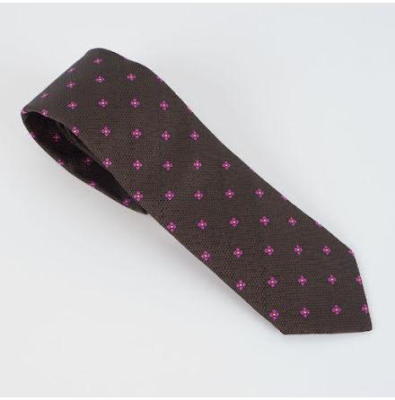 ETON brun rosa blommig slips siden
