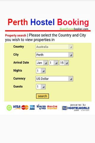 Perth Hostel Booking 2