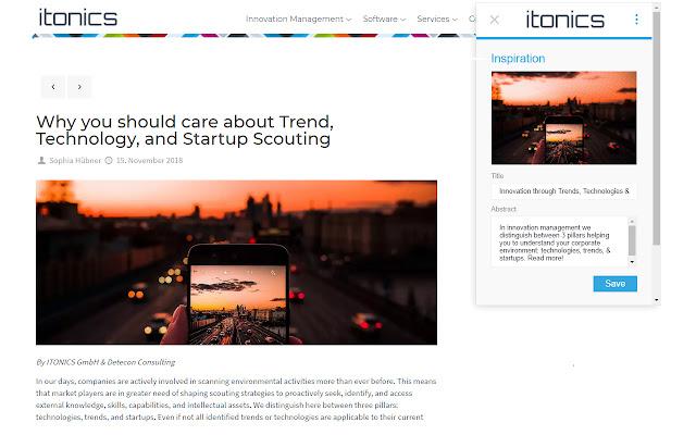ITONICS Web Clipper