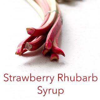 Strawberry Rhubarb Simple Syrup.
