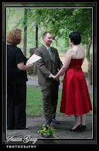 Photo: Old Mill Garden, Falls Park Reedy River - Greenville, SC-  Wedding Officiant, Marriage Minister, Notary, Justice Peace - Brenda Owen www.WeddingWoman.net  Photo courtesy Susan Gray