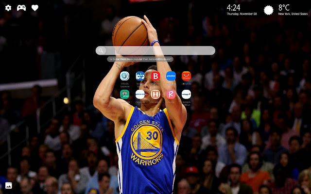 Stephen Curry NBA Wallpapers New Tab