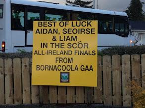 Photo: Good Luck Sign - Bornacoola GAA Grounds 2012