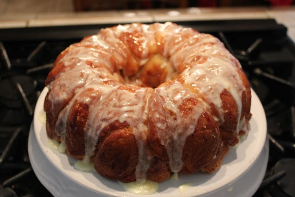Spoon the glaze over all. This tastes good both warm and cold.  Enjoy.