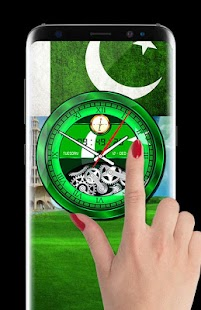 Pakistani Analog Flag Clock Live Wallpaper 2018 HD - náhled