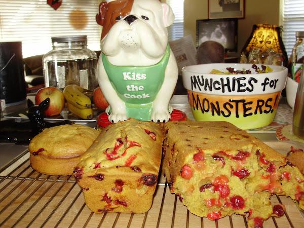 Pumpkin Cranberry Bread Recipe