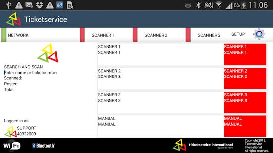 Ticketservice Scanner App - náhled