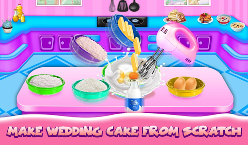 Wedding Cake Maker Girls Cooking Game apktram screenshots 7