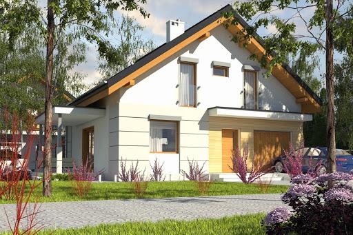 projekt Nowinka V z garażem 1-st. A