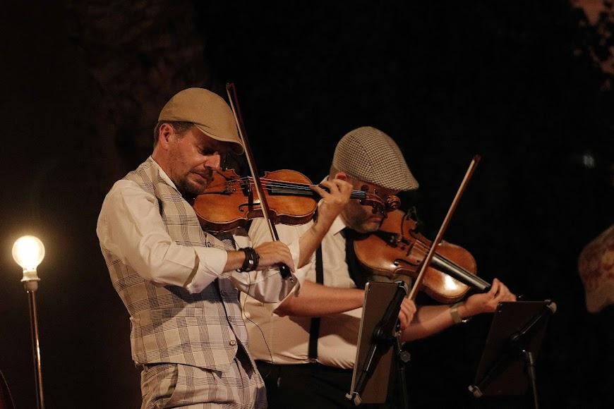 El cuarteto de cuerda de la OCAL, protagonista de la noche.
