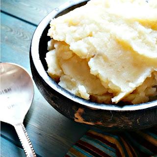 Parmesan Garlic Slow Cooker Mashed Potatoes.