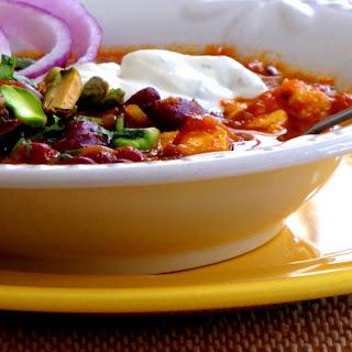 Rajmah chawal (Kidney beans and rice).