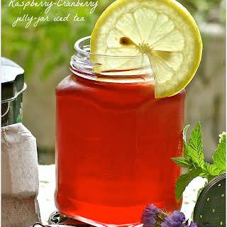 Victorian Farmhouse Raspberry~Cranberry Jelly Jar Iced Tea.