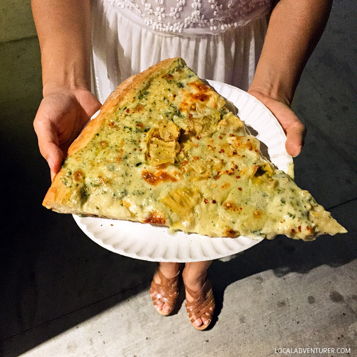 Artichoke Pizza (Ultimate NYC Food Bucket List - 49 Places to Eat in NYC).