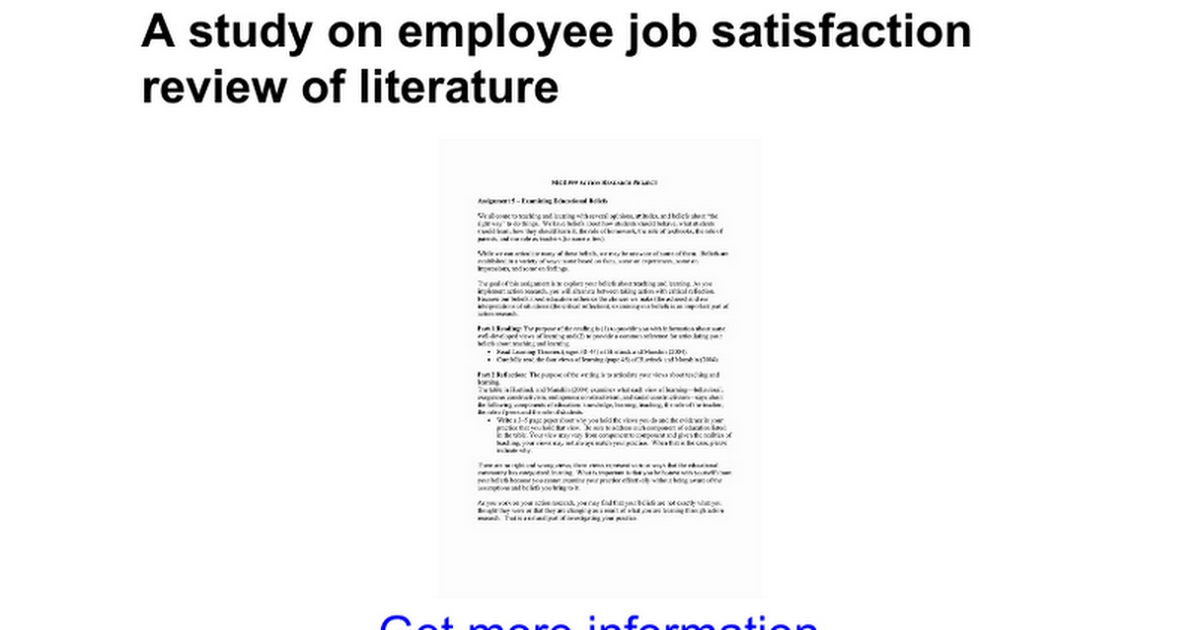 thesis on leadership and job satisfaction Leadership and job satisfaction – a review  another important factor that significantly affects the employee's job satisfaction is the leadership of the organization  thesis full-text .