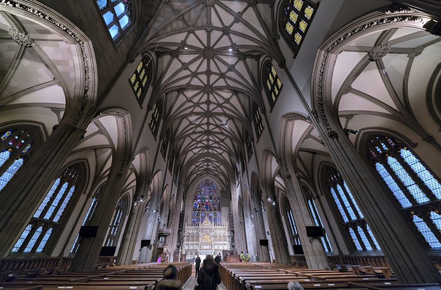 by Gordon Koh - Buildings & Architecture Places of Worship ( ceiling, church, windows, new york, trinity church, architecture, interior, arches, religion )