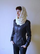 Photo: женский вязаный шарф-снуд-хомут-труба Молоко