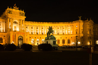 Photo: Vienna by night.
