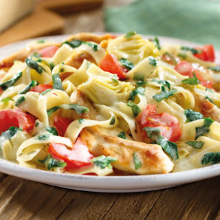 Artichoke Asiago Chicken & Pasta.