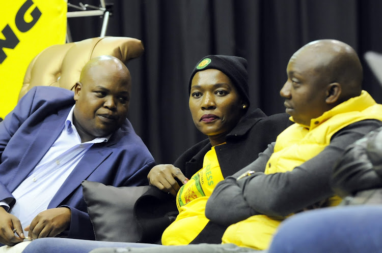 ANCYL President Collen Maine and Dep Secretary General, Thandi Moraka during the panel discussion to commemorate the 1976 June 16 uprising at Kliptown, Johannesburg.