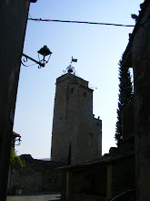 Photo: The old town belfry, and its wrought iron bell cage.