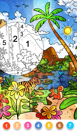 Color by Number - New Coloring Book modavailable screenshots 7