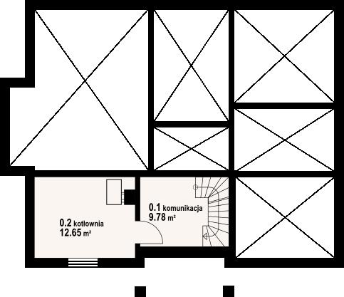 Dębina m9 - Rzut piwnicy